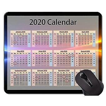 Mouse pads 300x250x3 2020 calendar custom original mouse pad colorful clouds mouse pad with stitched edge