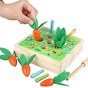 Pedagogiske gulrøtter høster tre leketøy