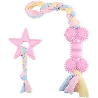 Šteňa žuva hračky pre prerezávanie zubov, interaktívna hračka na lano pre psov