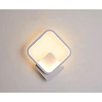 Wall Light Indoor Led Wall Light 20w Warm Light Home Decor Bedroom / Bedside / Office / Living Room / Aisle Wall Light, Square Frame, White