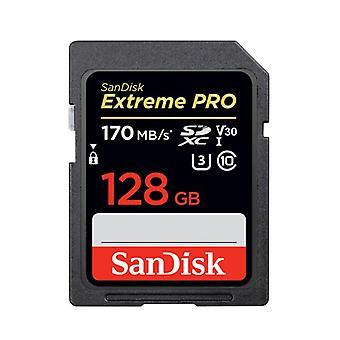 Original 128gb U3 C10 V30 Sd Card And Genuine Sandisk Extreme Edition Sdxc Uhs-1 Memory Card, Very Fast, 170mb /