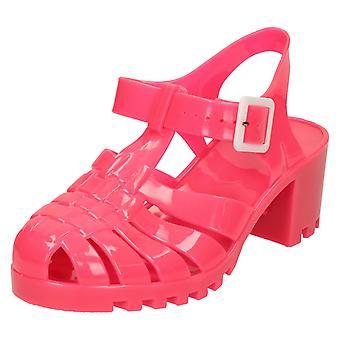 Spot de dames sur milieu talon Chunky Jelly sandales F9683