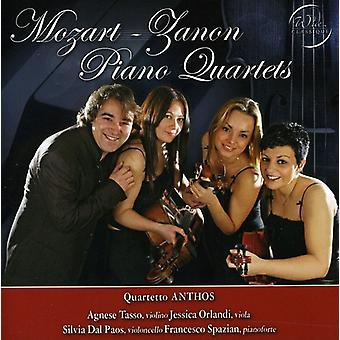 Quartetto Anthos - Mozart, Zanon: Klavier-Quartette [CD] USA import