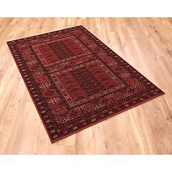 Kashqai 4346 300 röd rektangel mattor traditionella mattor