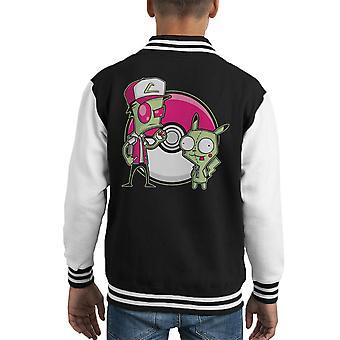 PoGIRmon Invader Zim Pokemon Kid's Varsity Jacket