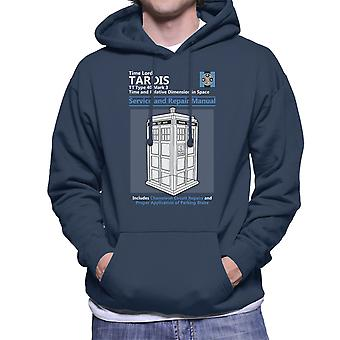 Doctor Who Tardis Service And Repair Manual Men's Hooded Sweatshirt