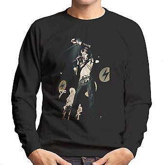 David Bowie Ziggy Stardust Lightening Hammersmith Odeon 1973 Men's Sweatshirt
