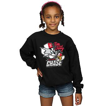 Tom And Jerry Girls Cat & Mouse Chase Sweatshirt