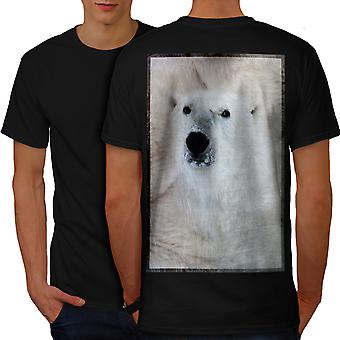 Polar Bear Nature Men BlackT-shirt Back | Wellcoda
