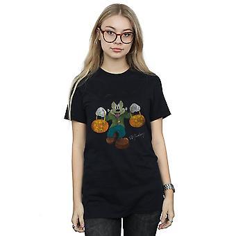 Disney Women's Frankenstein Mickey Mouse Boyfriend Fit T-Shirt
