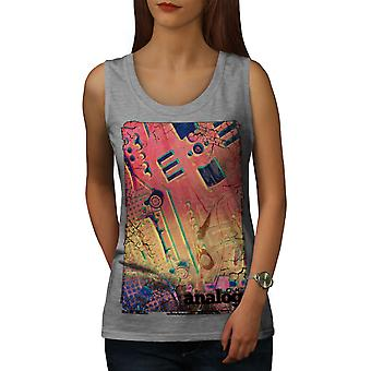 Analogtechnik Frauen GreyTank Top | Wellcoda
