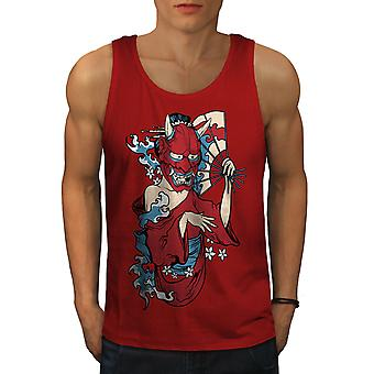 Evil Devil Girl Men RedTank Top | Wellcoda