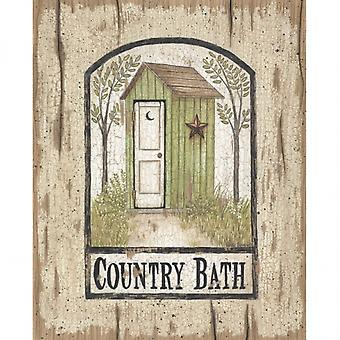 Barn Star Outhouse Poster Print by Linda Spivey (8 x 10)
