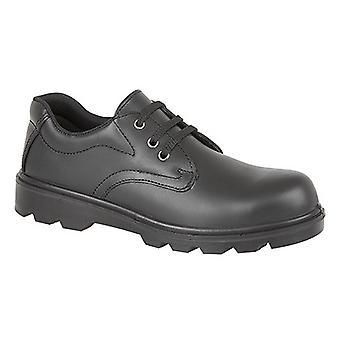 Maîtres greffeurs Mens plaine 3 Eye Shine cuir chaussures de sécurité