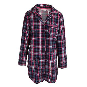 Forever Dreaming Womens/Ladies Tartan Checked Button Up Nightshirt