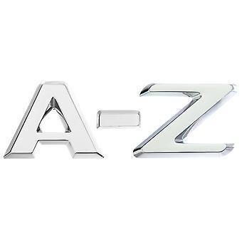 Luxbling car chrome 3D letter - silver A-Z
