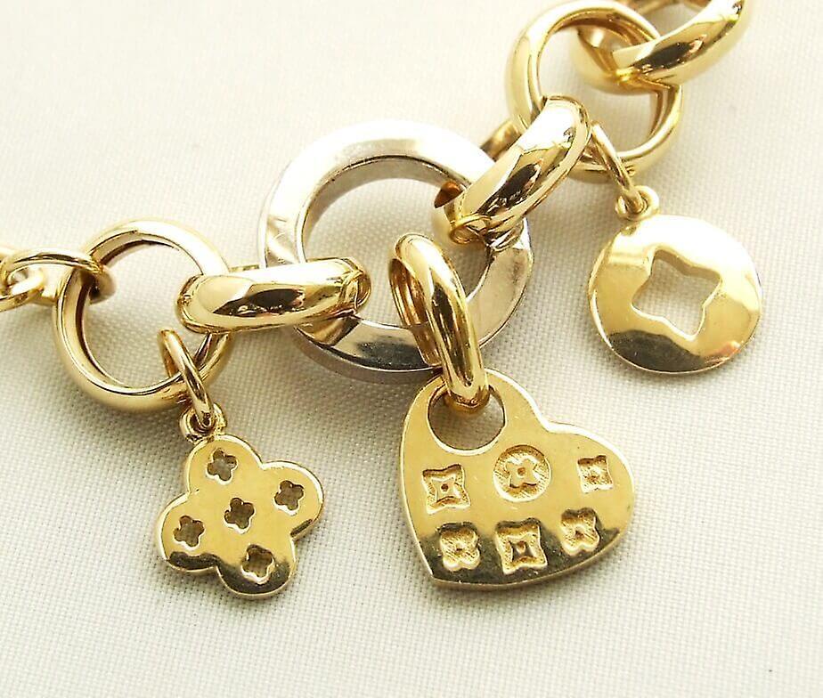 14 k gold charms bracelet