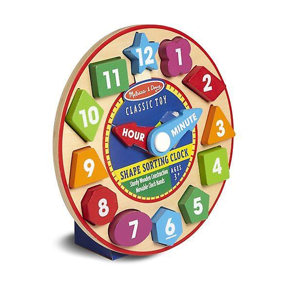 Melissa & Doug Shape Sorting Clock Toy Set