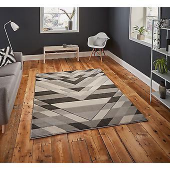 Pemboke G2075 rectángulo gris alfombras alfombras modernas