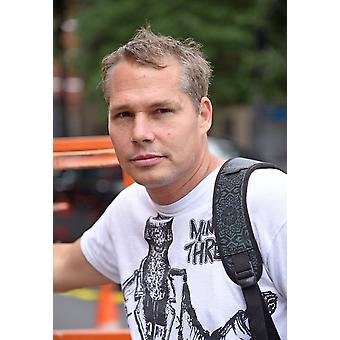 Shepard Fairey At A Public Appearance For Shepard Fairey Installs Public Art Program LISA Project Mural PS 19 Asher Levy School In The East Village New York Ny September 28 2016 Photo By Derek StormEv