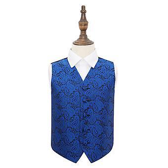 Royal blau Paisley Hochzeit Weste für jungen