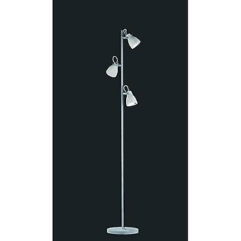 Trio valaistus konkreettisia modernin konkreettisia ilmeen metallinen lattiavalaisin
