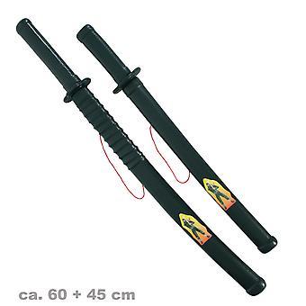 Ninja sverd 60cm + stiletto 45cm fighter kinesiske SWAT leiesoldat tilbehør