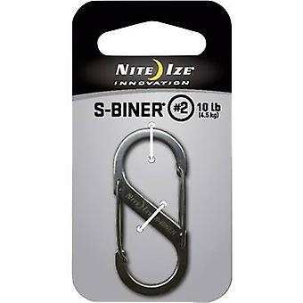 NITE Ize NI-SB2-03-11 Snap hook S-Biner Gr. 2 50 mm x 22 mm 1 pc(s)