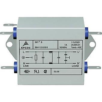 TDK B84112B0000B060 EMI filter 250 V AC 6 A 3,3 mH (L x b x H) 105 x 84 x 38,1 mm 1 PC (s)