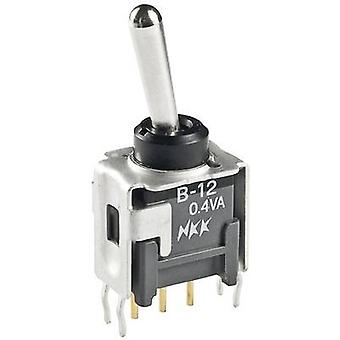 NKK Switches B12JH Toggle switch 28 V DC 0.1 A 1 x On/On latch 1 pc(s)