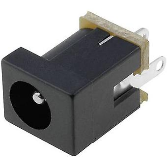 Cliff DC-9A lage voedingsconnector Socket, verticale verticale 4 mm 2,5 mm 1 PC('s)