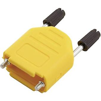 MH Connectors MHDPPK25-Y-K D-SUB housing Number of pins: 25 Plastic 180 ° Yellow 1 pc(s)