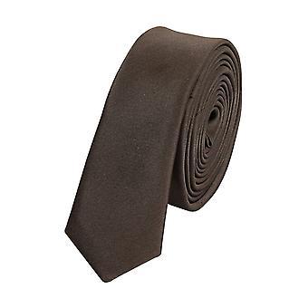 Stropdas de stropdas tie stropdas 3cm bruin uni Fabio Farini