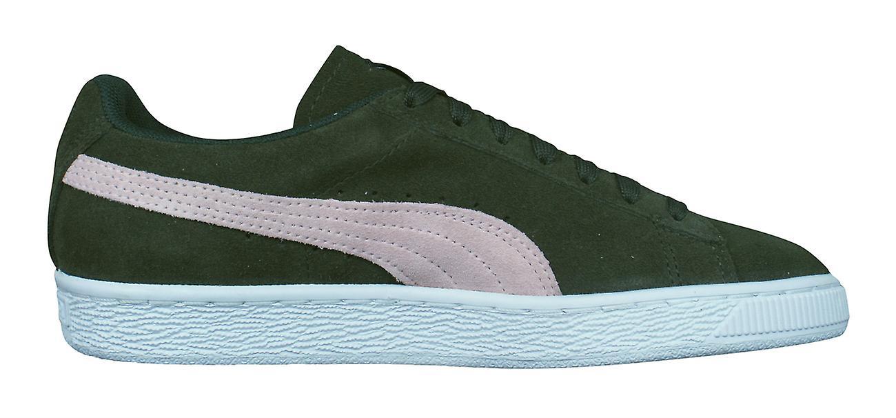Puma Suede Classic Damen Trainer Schuhe dunkelgrün