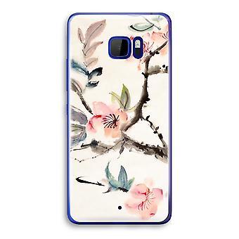 HTC U Ultra transparant Case (Soft) - Japenese bloemen