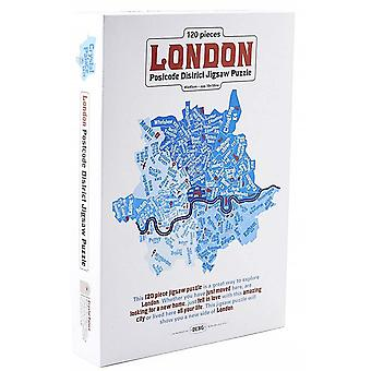 London postnummer distrikt 120 bit pussel 450 x 450 mm (jg)