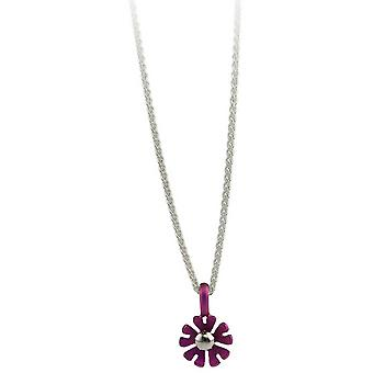 Ti2 Titanium Small Ten Petal Flower Pendant - Candy Pink