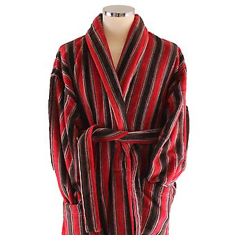Bown of London Ely Dressing Gown - Red/Rust Brown