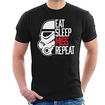 Ursprungliga Stormtrooper äta sömn Miss upprepa mäns T-Shirt