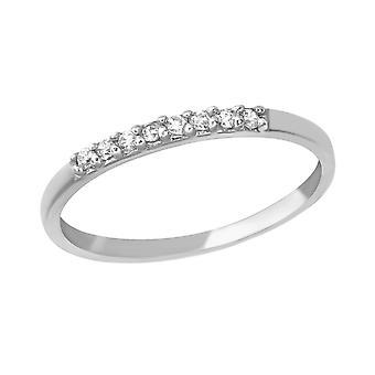 Round - 925 Sterling Silver Jewelled Rings - W25249X