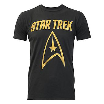 Junk Food Star Trek Logo Men's T-Shirt Black