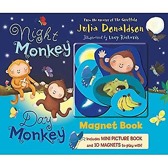 Night Monkey Day Monkey (Magnet Book) [Board book]