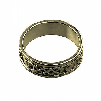 9ct goud 6mm Keltische trouwring grootte H