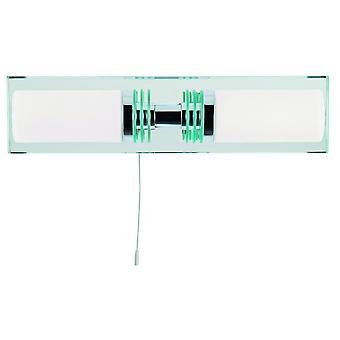 Luminária de parede LED dupla com espelho Backplate - holofote 5612-2CC-LED