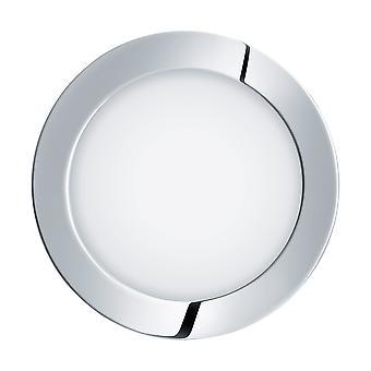 Eglo - Fueva 1 Chrome poli profil bas salle de bain descendait léger chaud blanc EG96055