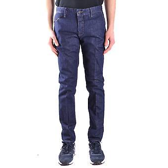 Paolo Pecora Ezbc059028 Men's Blue Cotton Jeans