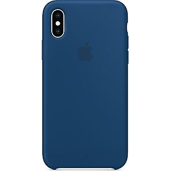 Originele verpakte Apple Siliconen Microfiber Cover Case voor iPhone XS - Horizon Blue