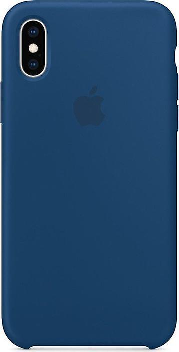 Original packaging Apple silicone Micro Fiber cover case for iPhone XS - Horizon Blue