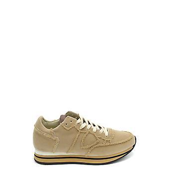 Philippe Modelo Ezbc019039 Mujer's Zapatillas de Terciopelo Beige