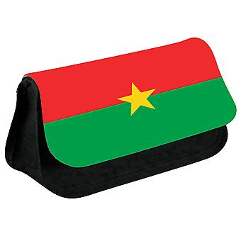 Burkina Faso Flag Printed Design Pencil Case for Stationary/Cosmetic - 0027 (Black) by i-Tronixs